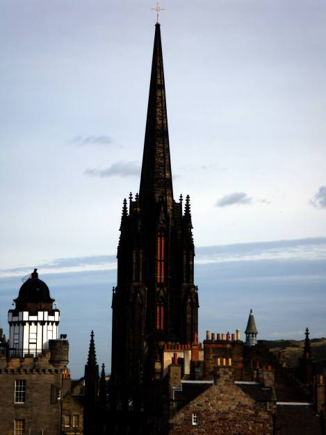 Church Steeple in Edinburgh