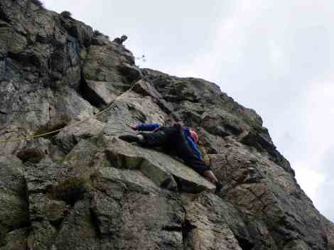 Me climbing in Scotland